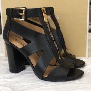 Michael Kors black heeled sandals size 7.5